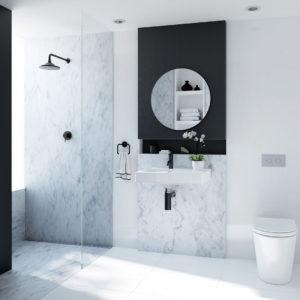 modern small bathroom renovation cook & bathe